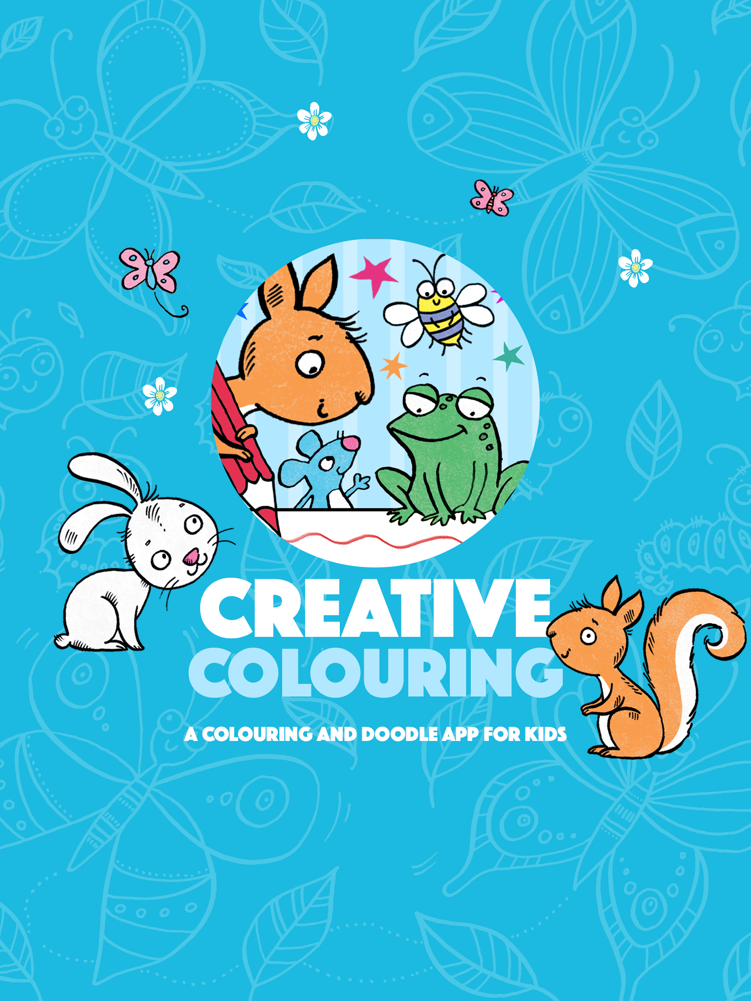 Children's colouring app for Independent Publisher, Buster Books