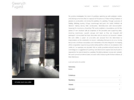Fine Art Website for London Artist, Gwenyth Fugard