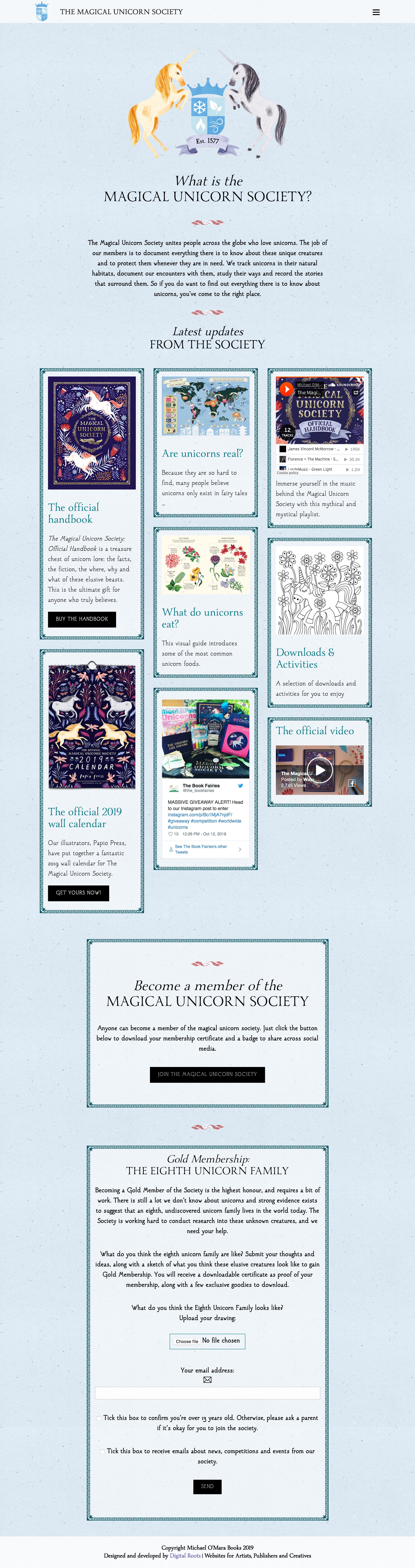 Book publishing mini-site