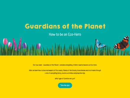 Eco website for Michael O'Mara Books and Client Earth